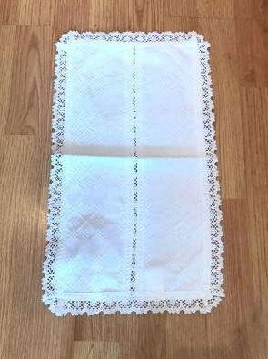 Mileu traditional - alb - 46x26 cm