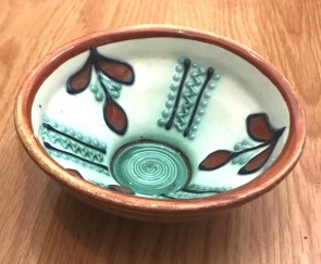 Bol-castron-strachina din ceramica traditionala de Baia Mare -12 cm