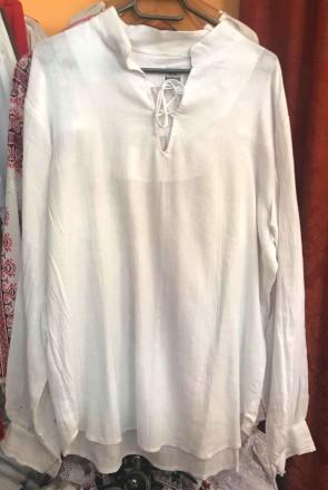 Ie camasa stilizata barbati din bumbac - alb - marime L -produs romanesc