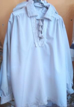 Camasa traditionala barbati - zona Maramures - broderie alba in ciur