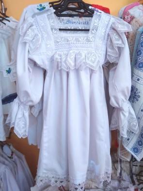 Camasa traditionala lunga fata- zona Maramures-75 cm lungime -model 2