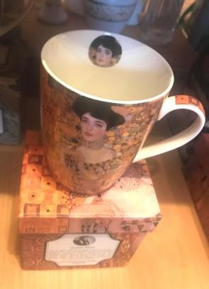 Cana pentru ceai  10 cm - flori- model Klimt - Adele
