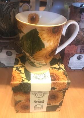 Cana pentru ceai  10 cm - flori- model floarea soarelui