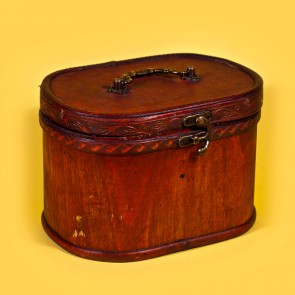 Cutie bijuterii din lemn - oval, mare
