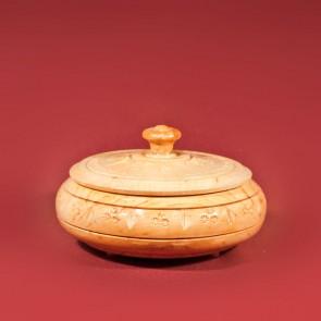 Cutie bonboniera sculptata traditionala din lemn - mare