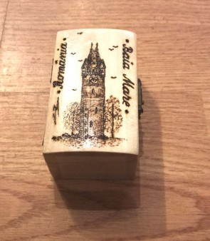 Cutie din lemn pirogravata Baia Mare - mica