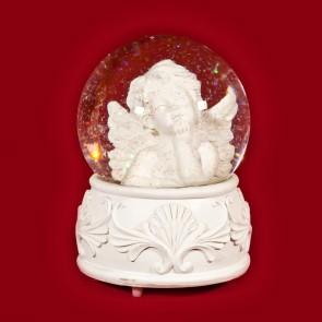 Glob muzical inger - decoratiune craciun 16 cm