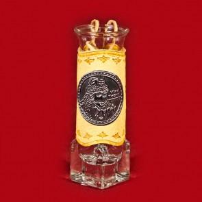 Set 6 pahare tuica din sticla halbuta 11 cm - piele cu eticheta metal -Dracula