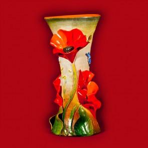 Vaza ceramica lucrata manual - Mac - 30 cm