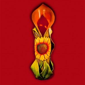 Vaza ceramica lucrata manual - Floarea soarelui - 65cm