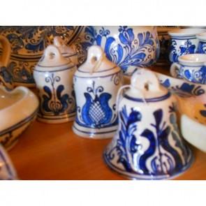Clopotel ceramica -  traditionala - albastru