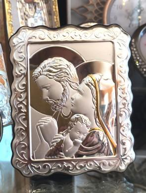 Iconita argintata - Familia Sfanta - 11x9cm