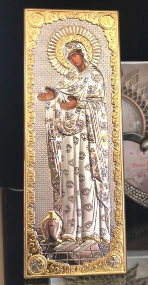 Iconita argintata -Maria - 26,5x9,5cm