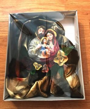 Iconita din piele - Familia Sfanta-23cmx28cm