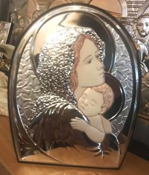 Iconita argintata -Maria - 13,5x10cm - varianata color