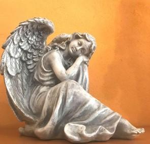 Ingeras alb - statueta 21 cm - decoratiune de craciun