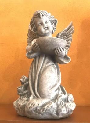 Ingeras alb - statueta 33 cm - decoratiune de craciun