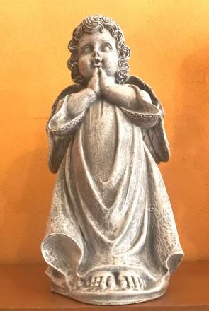 Ingeras alb - statueta 35 cm - decoratiune de craciun