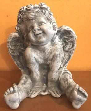 Ingeras alb - statueta 24 cm - decoratiune de craciun