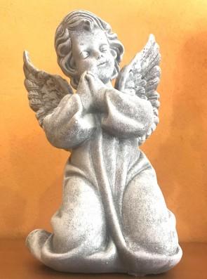 Ingeras alb - statueta 26 cm - decoratiune de craciun