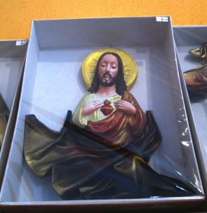 Iconita din piele - Isus -26cmx33,5cm
