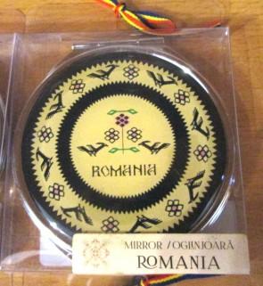 Oglinda de poseta rotunda, 7cm - motive traditionale-model 5