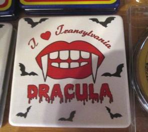 Oglinda de poseta patrata, 6,5cm - Inscriptia Dracula
