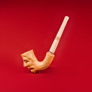 Pipa lemn traditionala cu cap ceramic