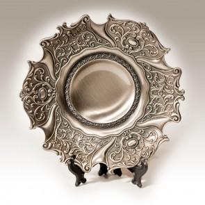 Platou din metal in stil antic - rotund