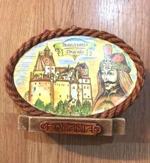 Placheta ceramica color cu suport - Dracula / Vlad Tepes