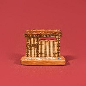 Poarta maramureseana din lemn pirogravata - mica
