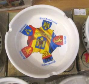 Scrumiera ceramica suvenir -Regiuni-10cm