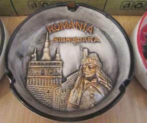 Scrumiera ceramica suvenir -in relief - Sighisoara -10cm