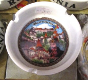 Scrumiera ceramica suvenir -Tepes-cetati- 8,5 cm