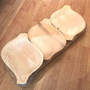 Set platouri lemn - 7 piese -54x22 cm