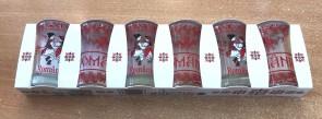 Set 6 pahare tuica din sticla - Romania- Dansatori-