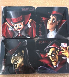 Set 4 suporturi de pahare -Dracula-desene