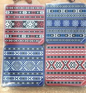 Set 4 suporturi de pahare -tesaturi traditionale romanesti