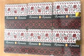 Set 6 suporturi de pahare -motive traditionale- rosu cu negru