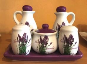 Set oliviera ceramica - lavanda