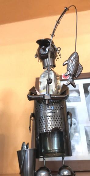 Suport pentru sticle din metal- pescar -tip 2