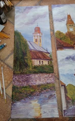 Tablou - 20x60 cm - Biserica Reformata - Baia Mare - model 2