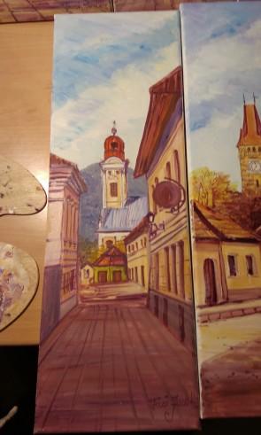 Tablou - 20x60 cm - Biserica Reformata - Baia Mare - model 1
