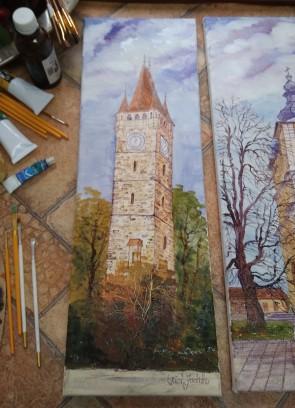 Tablou - 20x60 cm - Turnul lui Stefan- Baia Mare - model 1