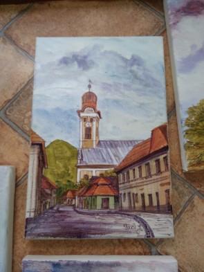 Tablou - 20x30 cm -Biserica Reformata - Baia Mare