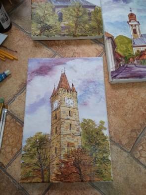 Tablou - 20x30 cm -Turnul lui Stefan - Baia Mare - model 4