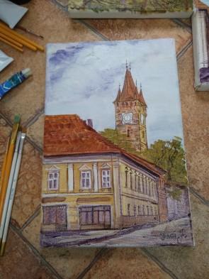 Tablou - 20x30 cm -Turnul lui Stefan - Baia Mare - model 5
