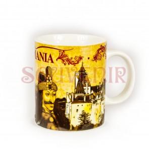 Cana  imprimata - 250 ml - Castelul Bran + Dracula +Castelul Peles