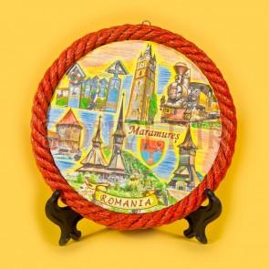 Placheta ceramica color - Maramures - 16cm